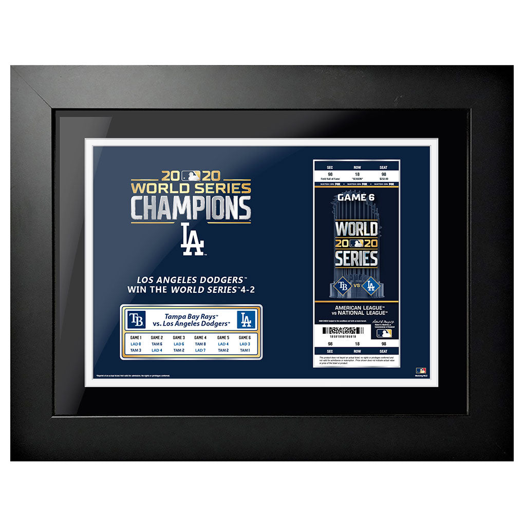 World Series 2020 Ticket Framed Décor 12x16