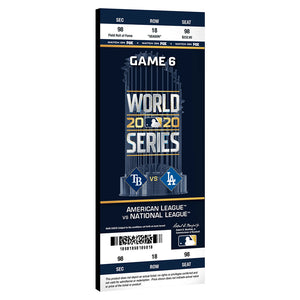 2020 World Series Game 6 Mega Ticket Plaque