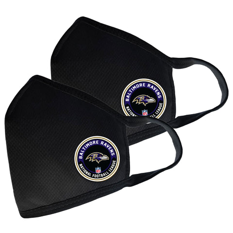 Baltimore Ravens Two Pack Face Cover with Team Logo