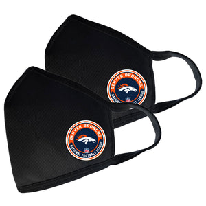 Denver Broncos Two Pack Face Cover with Team Logo