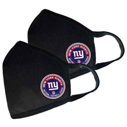 New York Giants Two Pack Face Cover with Team Logo