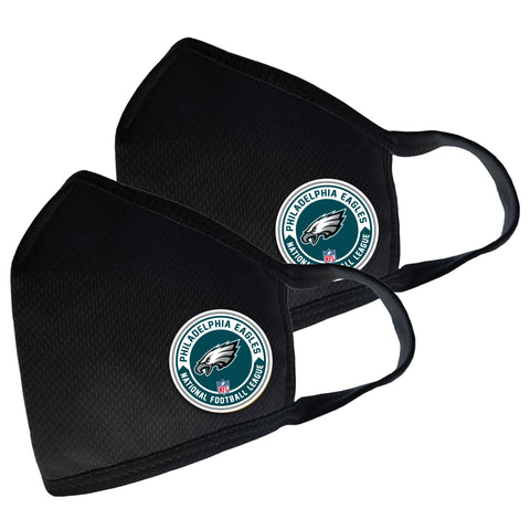 Philadelphia Eagles Two Pack Face Cover with Team Logo