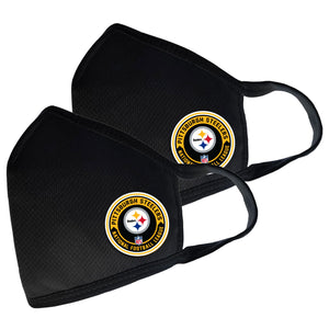 Pittsburgh Steelers Two Pack Face Cover with Team Logo