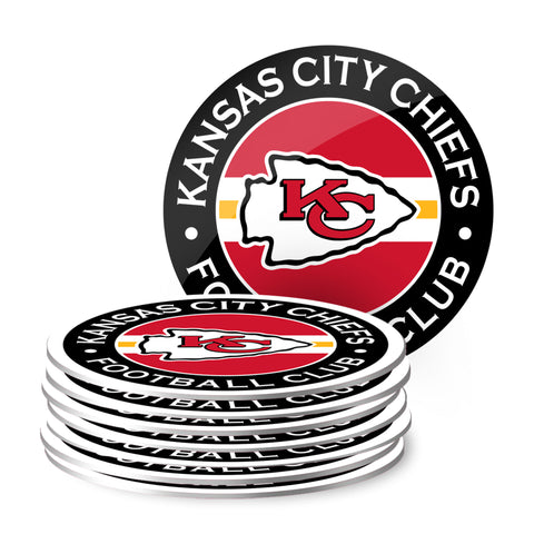Kansas City Chiefs Eight Pack Coaster Set