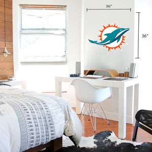 Miami Dolphins 36x36 Team Logo Repositional Wall Decal