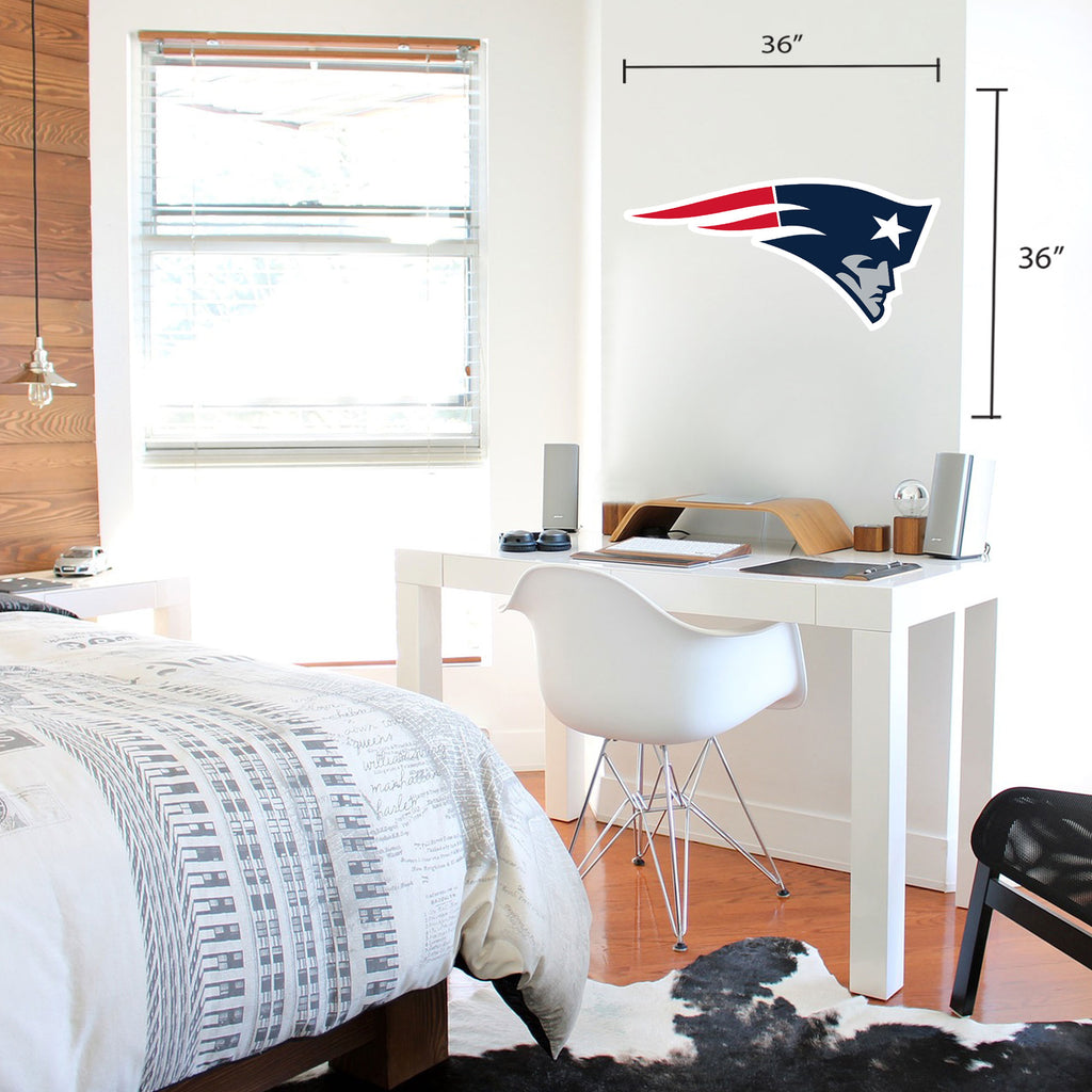 New England Patriots 36x36 Team Logo Repositional Wall Decal