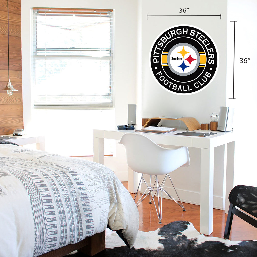 Pittsburgh Steelers 36x36 Team Stripe Logo Repositional Wall Decal