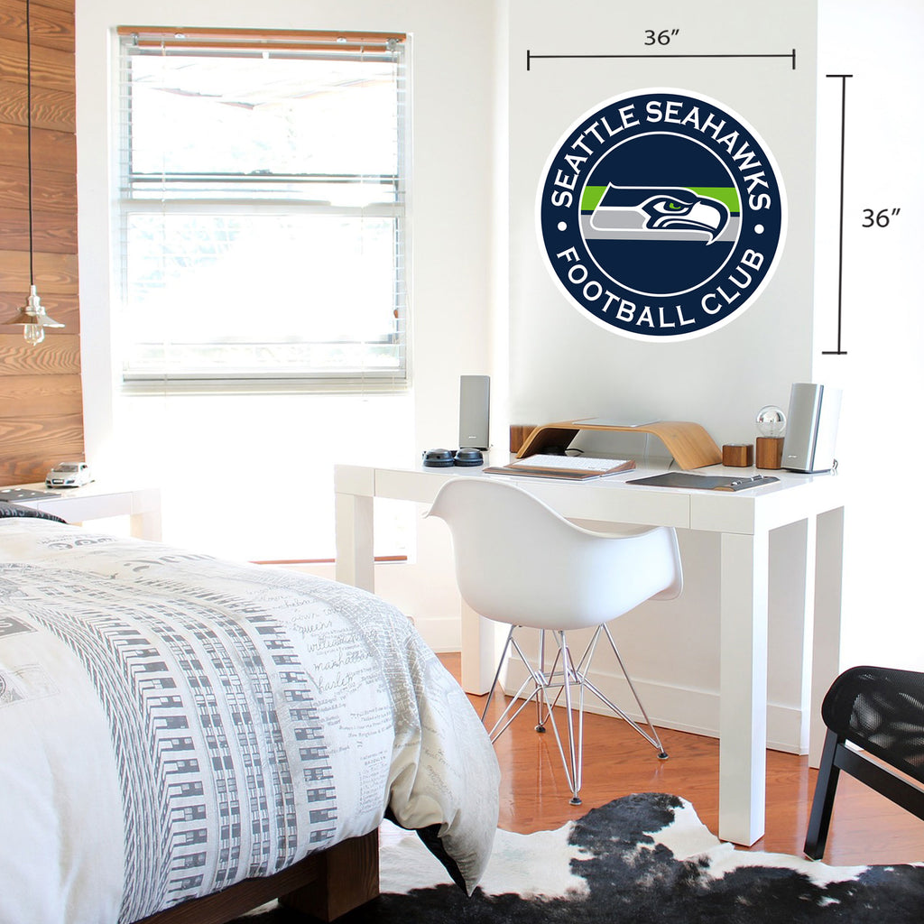 Seattle Seahawks 36x36 Team Stripe Logo Repositional Wall Decal