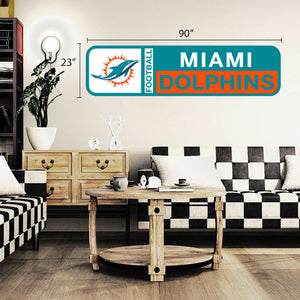 Miami Dolphins 90x23 Team Repositional Wall Decal Design 56