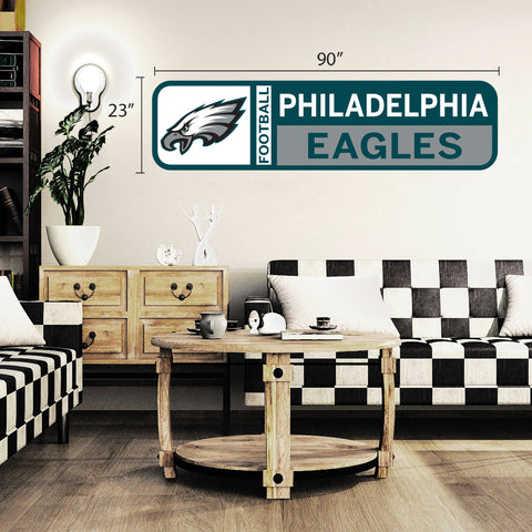 Philadelphia Eagles 90x23 Team Repositional Wall Decal Design 56