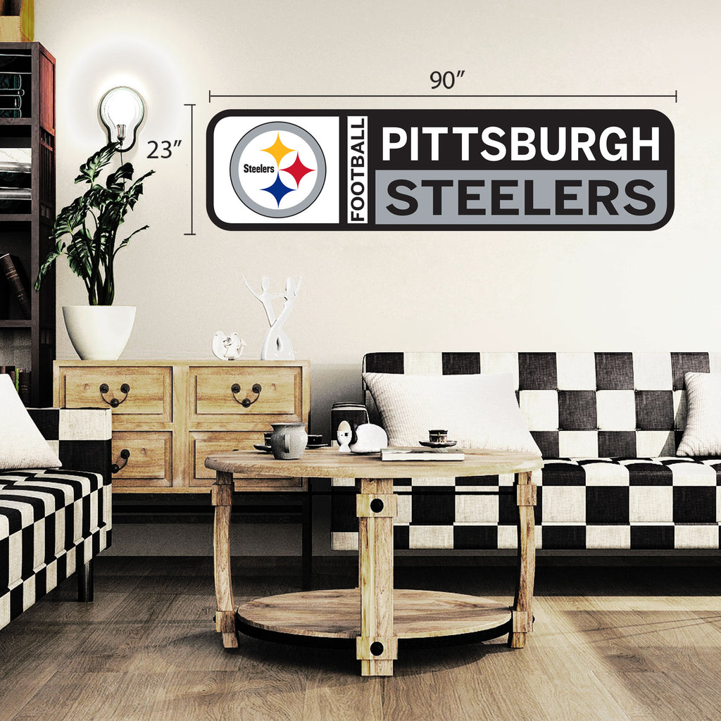 Pittsburgh Steelers 90x23 Team Repositional Wall Decal Design 56
