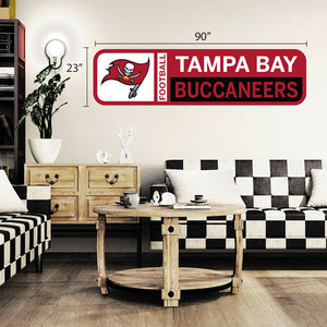 Tampa Bay Buccaneers 90x23 Team Repositional Wall Decal Design 56