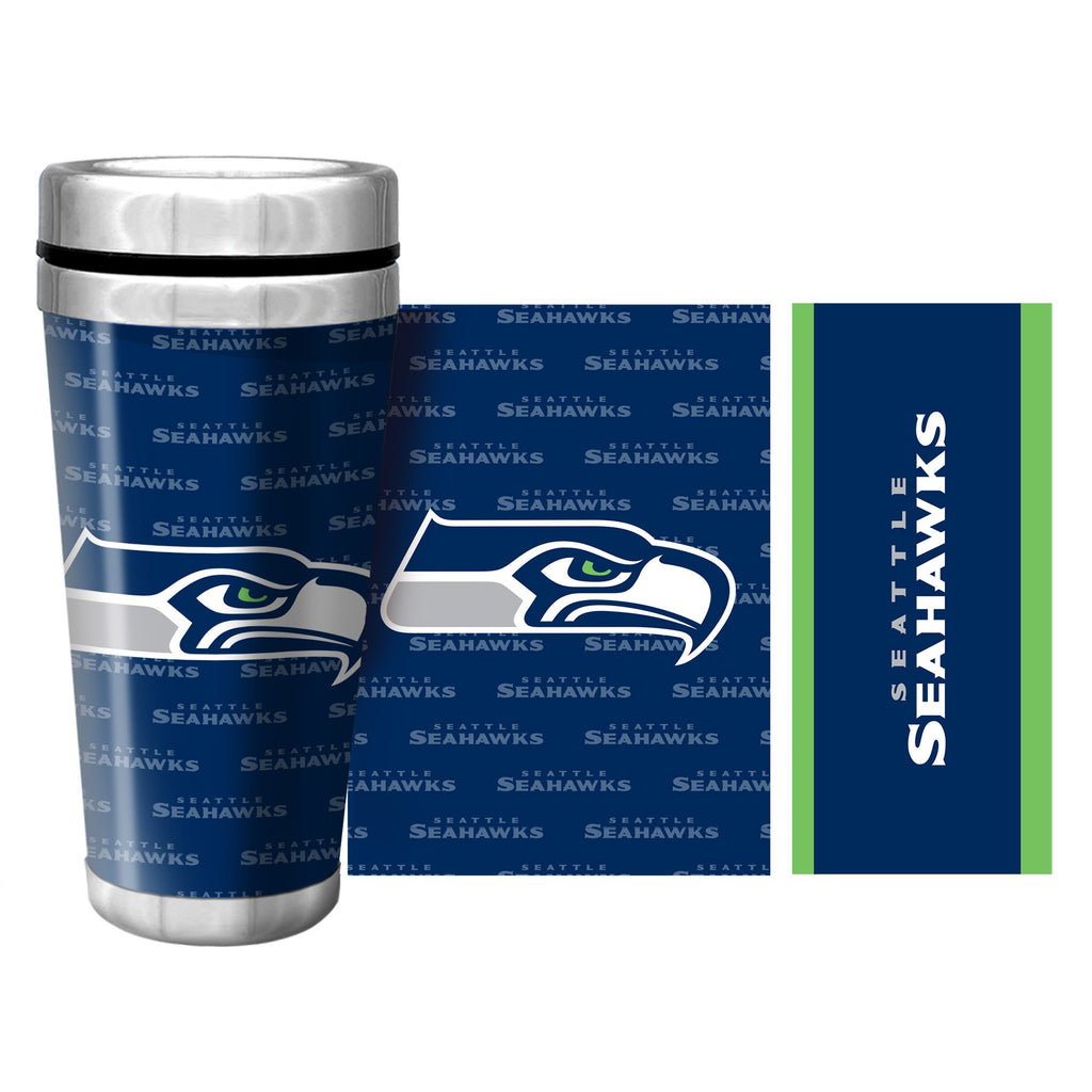 Seattle Seahawks 16oz Full Wrap Wallpaper Travel Mug