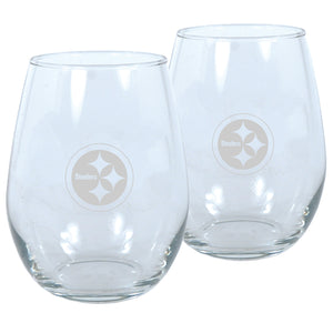 Pittsburgh Steelers Wine Glass Set