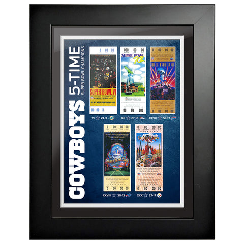 Dallas Cowboys Ticket to History 12x16 Frame