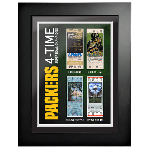Green Bay Packers Ticket to History 12x16 Frame