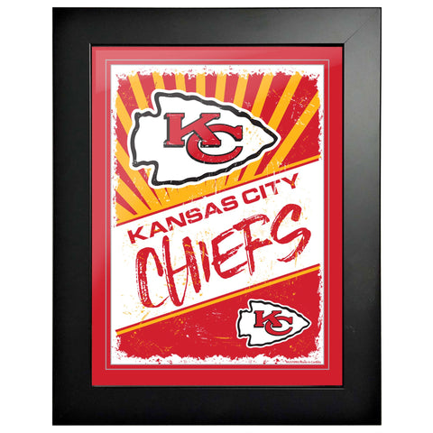 Kansas City Chiefs 12x16 Classic Framed Artwork