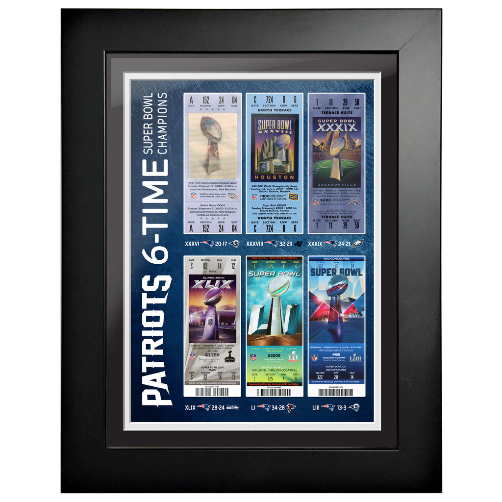 New England Ticket to History 12x16 Frame