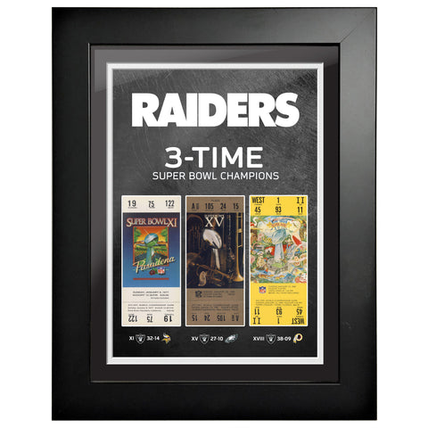 Las Vegas Raiders Ticket to History 12x16 Frame