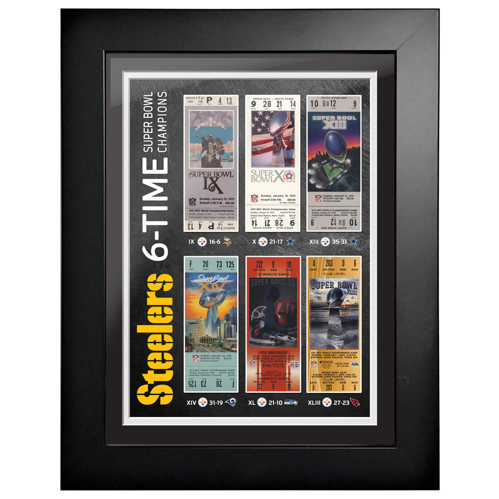 Pittsburgh Steelers Ticket to History 12x16 Frame