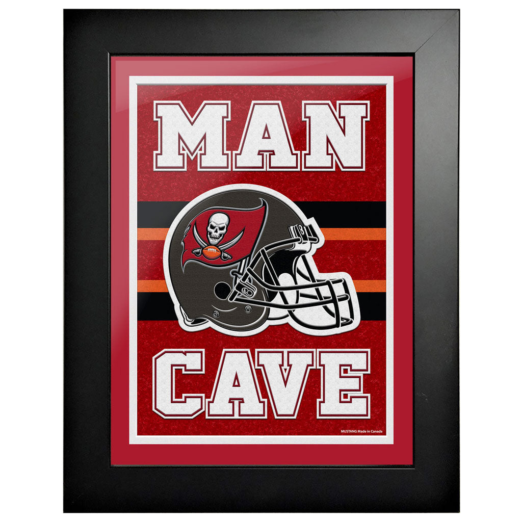Tampa Bay Buccaneers 12x16 Man Cave Framed Artwork