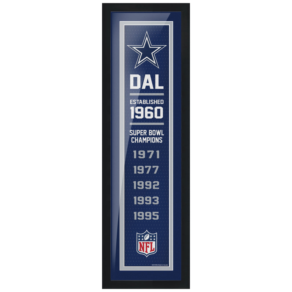 Dallas Cowboys 6x22 Team Empire Framed Artwork