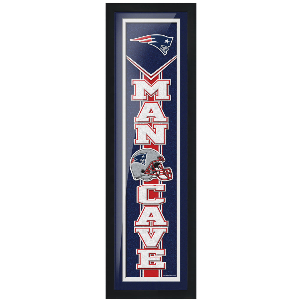 New England Patriots 6x22 Team Man Cave Framed Artwork