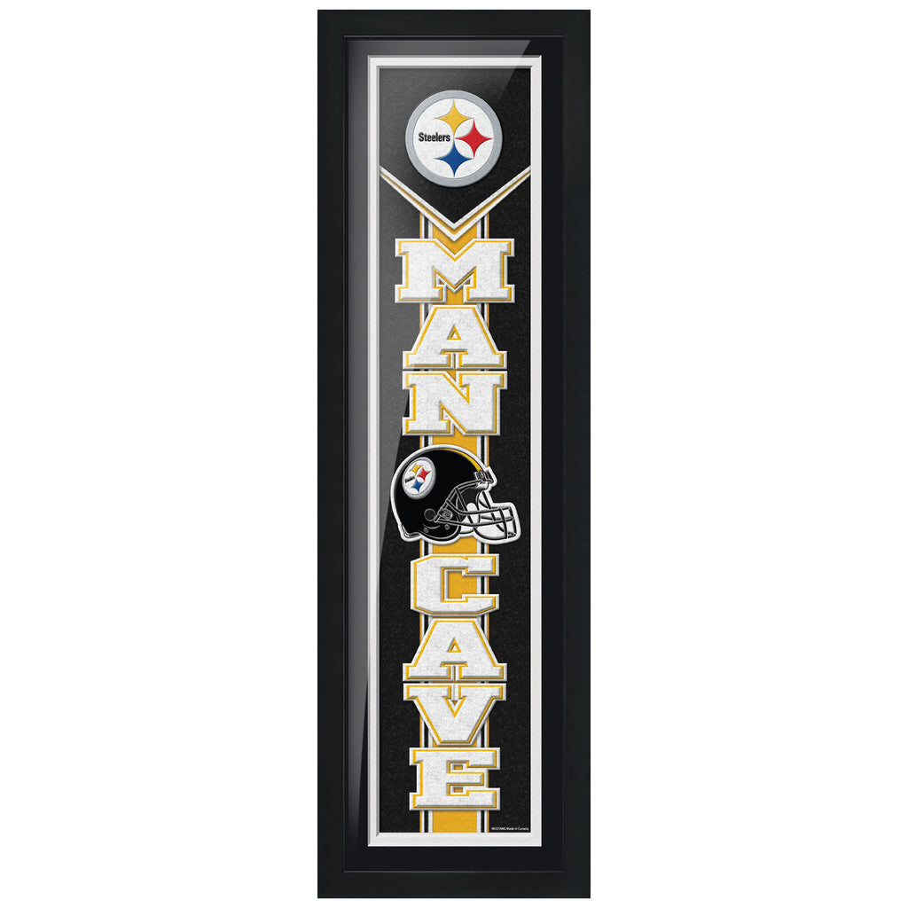 Pittsburgh Steelers 6x22 Team Man Cave Framed Artwork