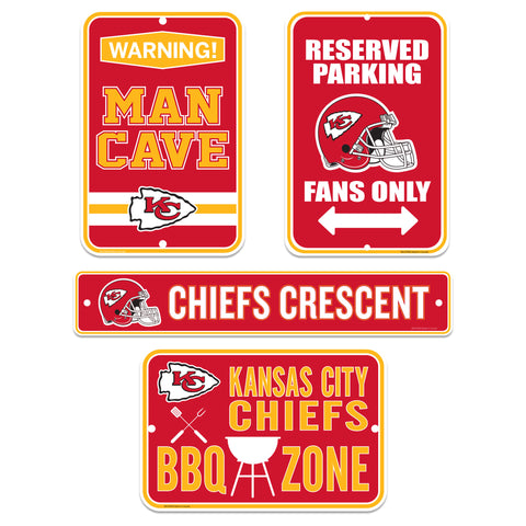 Kansas City Chiefs Four Pack Fan Sign Set