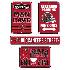 Tampa Bay Buccaneers Four Pack Fan Sign Set