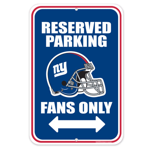 New York Giants 10x15 Parking Sign