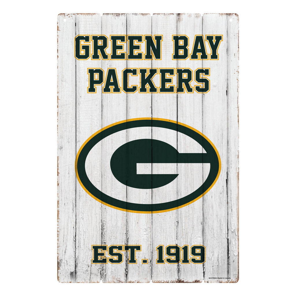 Green Bay Packers 24x16 Established Faux  Wood Sign