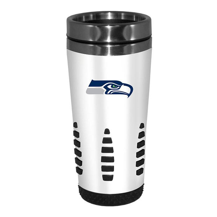 Seattle Seahawks White Huntsville Travel Mug
