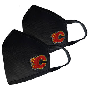 Calgary Flames 2 Pack Elite Face Cover - Primary Logo