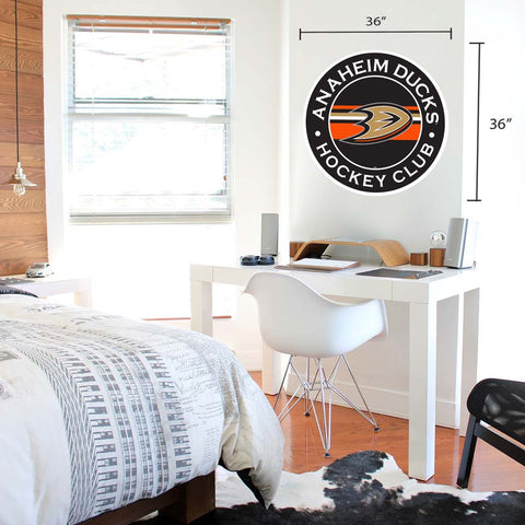 Anaheim Ducks 36x36 Team Reposistional Wall Vinyl Stripe Design