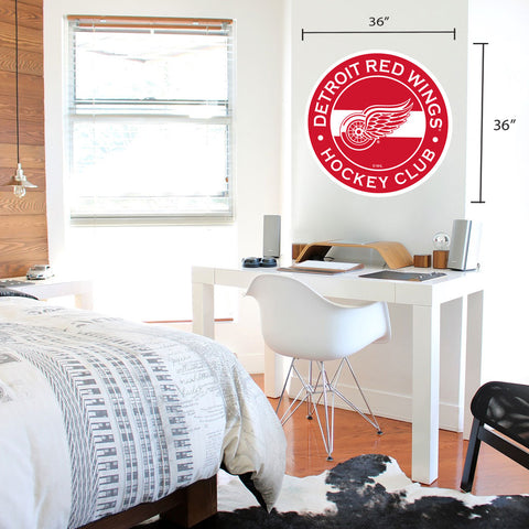 Detroit Red Wings 36x36 Team Reposistional Wall Vinyl Stripe Design