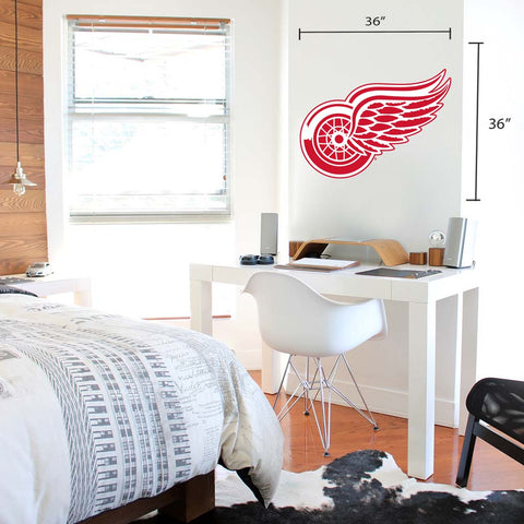 Detroit Red Wings 36x36 Team Reposistional Wall Vinyl
