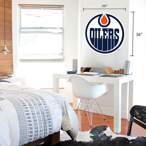 Edmonton Oilers 36x36 Team Logo Repositional Wall Decal