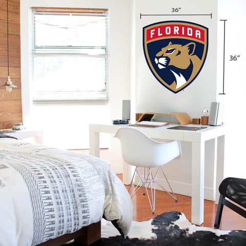 Florida Panthers 36x36 Team Reposistional Wall Vinyl