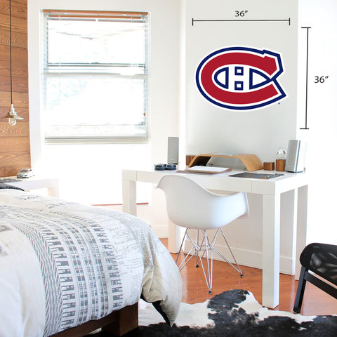 Montreal Canadiens 36x36 Team Logo Repositional Wall Decal