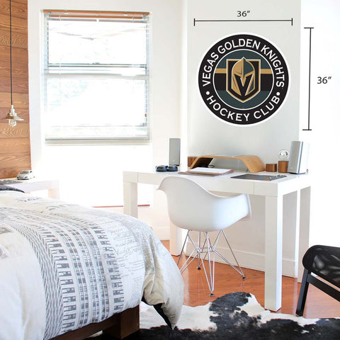 Vegas Golden Knights 36x36 Team Reposistional Wall Vinyl Stripe Design