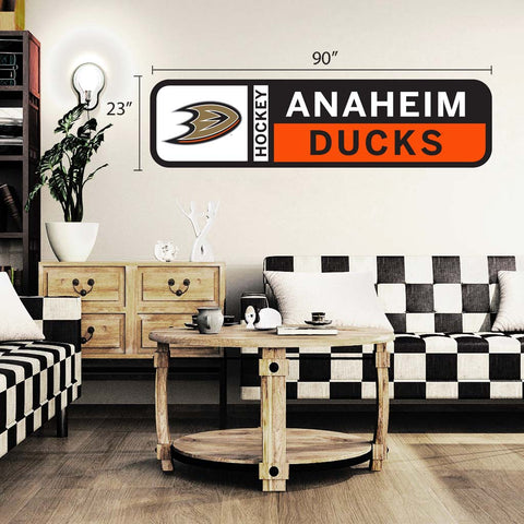 Anaheim Ducks 90x23 Team Repositional Wall Decal Design 56