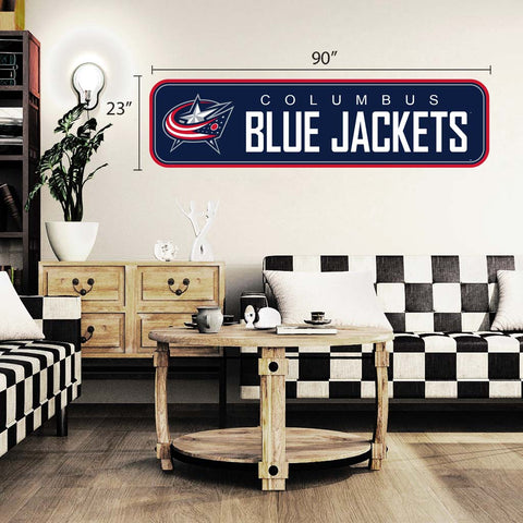Columbus Blue Jackets - 90x23 Team Repositional Wall Decal - Long Design