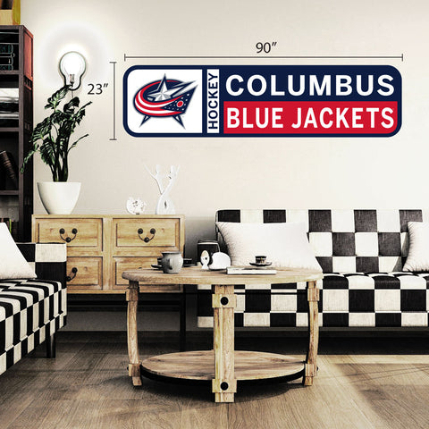 Columbus Blue Jackets 90x23 Team Repositional Wall Decal Design 56