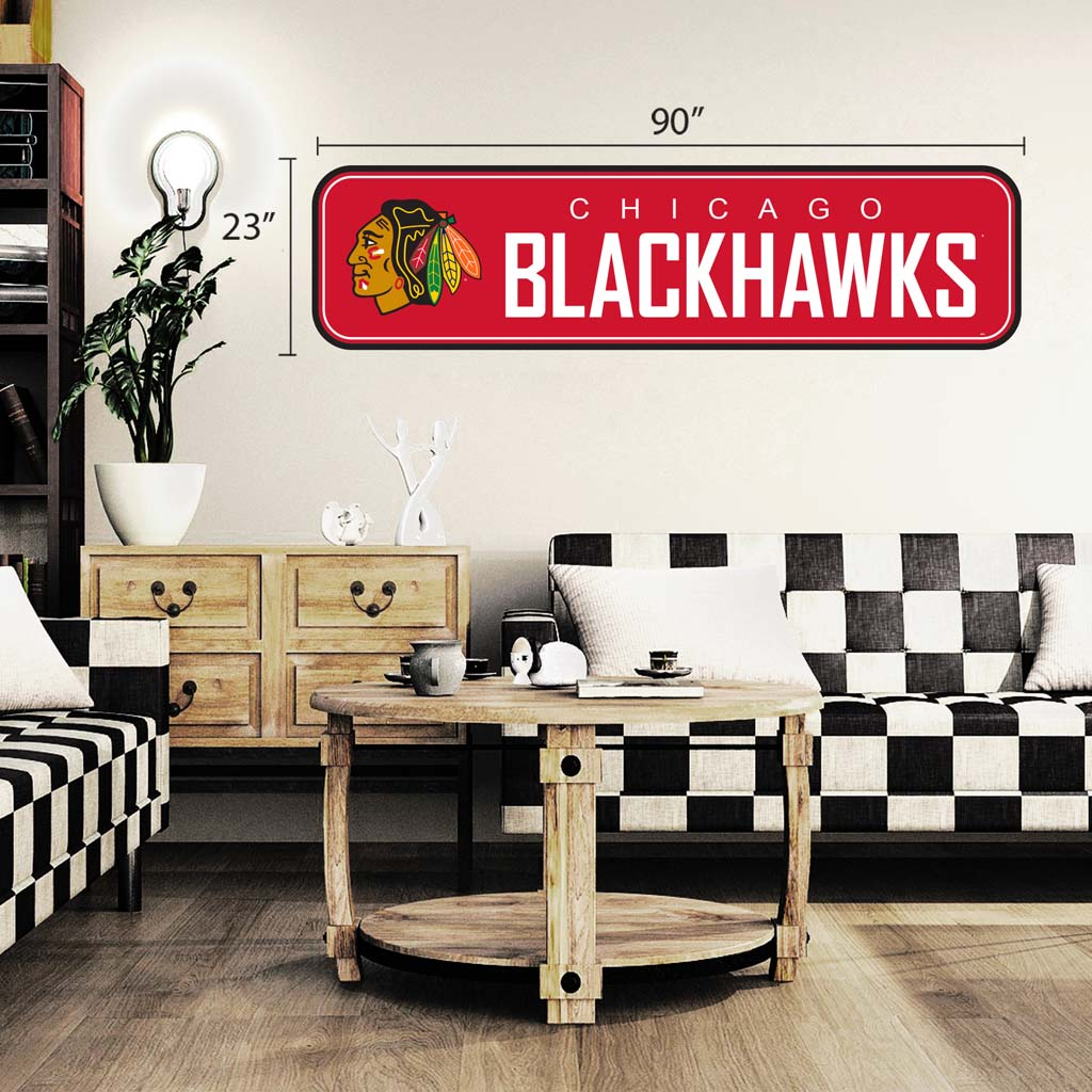 Chicago Blackhawks - 90x23 Team Repositional Wall Decal - Long Design