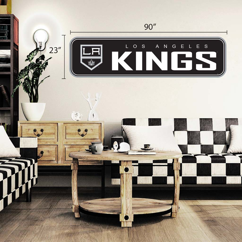 Los Angeles Kings - 90x23 Team Repositional Wall Decal - Long Design