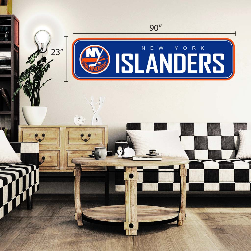 New York Islanders - 90x23 Team Repositional Wall Decal - Long Design