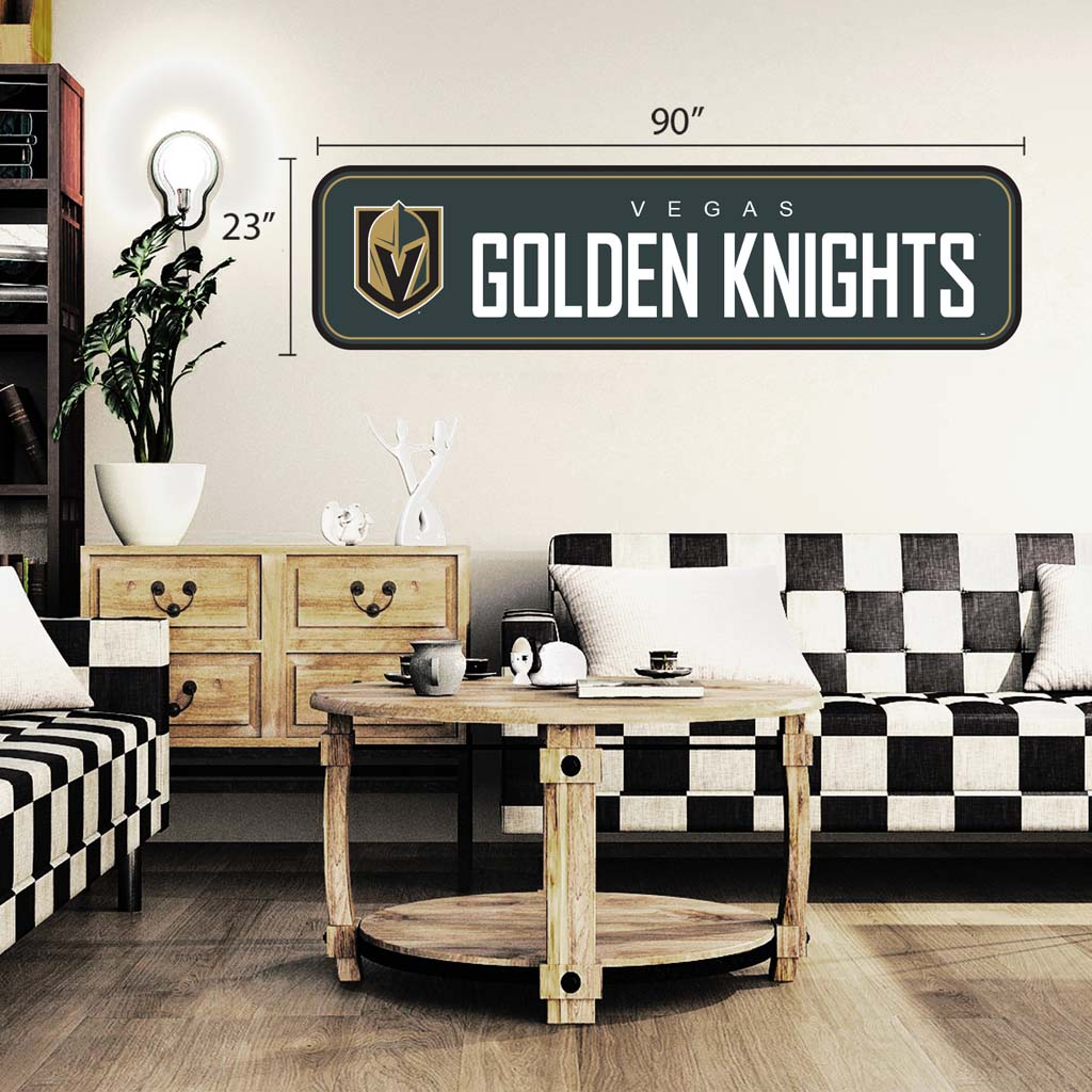 Vegas Golden Knights - 90x23 Team Repositional Wall Decal - Long Design
