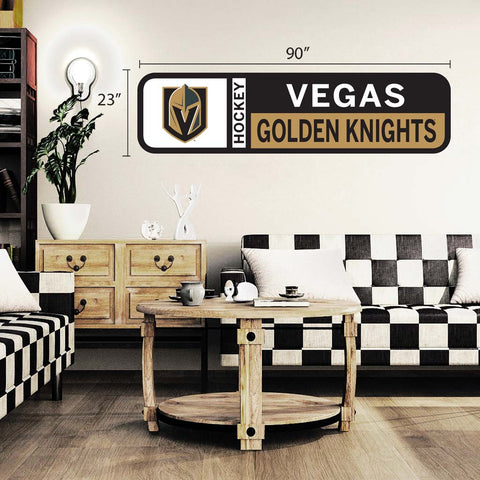 Vegas Golden Knights 90x23 Team Repositional Wall Decal Design 56