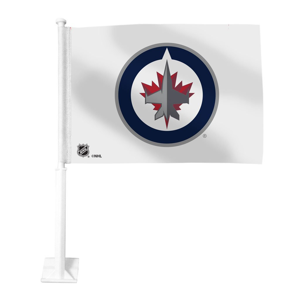 White Winnipeg Jets Car Flag